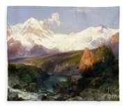 The Teton Range, 1897 Fleece Blanket