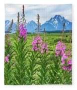 The Tetons Are Grand Fleece Blanket