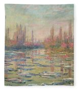 The Thaw On The Seine Fleece Blanket