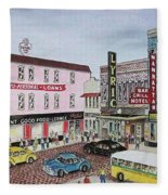 The Theater District Portsmouth Ohio 1948 Fleece Blanket