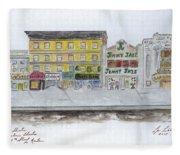 Theatre's Of Harlem's 125th Street Fleece Blanket