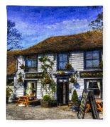 The Theydon Oak Pub Art Fleece Blanket