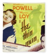 The Thin Man 1934 Fleece Blanket