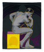 The Thinker - El Pensador Fleece Blanket