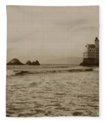 The  Third Cliff House And Seal Rocks From Pier, San Francisco,  Circa 1895 Fleece Blanket