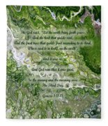 The Third Day With Scripture Fleece Blanket