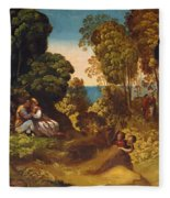 The Three Ages Of Man 1515 Fleece Blanket