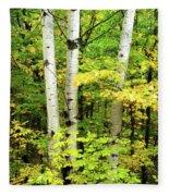 The Three Birch Fleece Blanket
