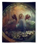 The Three Flowers Fleece Blanket