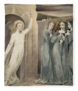 The Three Maries At The Sepulchre Fleece Blanket