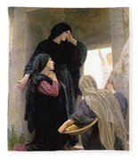 The Three Marys At The Tomb Fleece Blanket