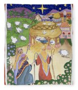 The Three Shepherds Fleece Blanket