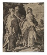 The Three Women Returning From The Tomb Fleece Blanket