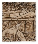 The Tomb Of Tristram And Iseult Fleece Blanket