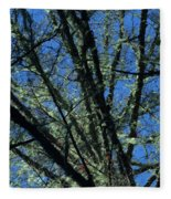 The Top A Glowing Tree Fleece Blanket