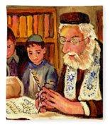 The Torah Scribe Fleece Blanket