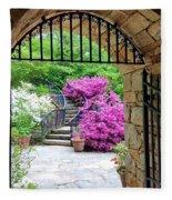 The Tower's Garden Door Fleece Blanket
