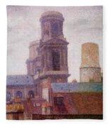 The Towers Saint Sulpice 1887 Fleece Blanket