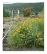 The Tracks At Pagosa Junction Fleece Blanket