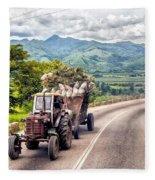 The Tractor Fleece Blanket