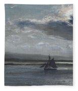 The Traeth Mawr, Moonlight Fleece Blanket