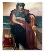The Tragic Poetess Fleece Blanket