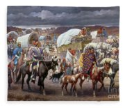 The Trail Of Tears Fleece Blanket