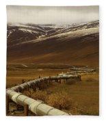 The Trans Alaska Pipeline Fleece Blanket