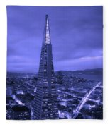 The Transamerica Pyramid At Sunset Fleece Blanket