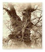 The Tree - Sepia Fleece Blanket