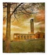 The Tree And The Bell Tower Fleece Blanket