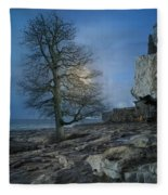The Tree Of Inis Mor Fleece Blanket