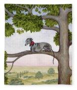 The Tree Whippet Fleece Blanket