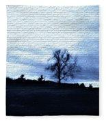 The Trees In Winter Fleece Blanket