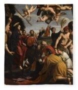 The Triumphal Entry Of Christ In Jerusalem Fleece Blanket