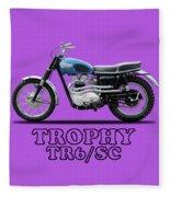 The Trophy Tr6 Sc Motorcycle Fleece Blanket