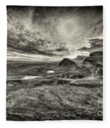 The Trotternish Ridge No. 3 Fleece Blanket