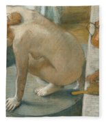 The Tub Fleece Blanket by Edgar Degas