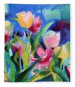 The Tulips Bed Rock Fleece Blanket
