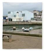 The Turner Contemporary Gallery - Margate Harbour Fleece Blanket