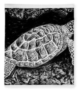 The Turtle Searches Fleece Blanket