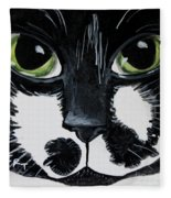 The Tuxedo Cat Fleece Blanket