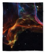 The Twisted Shockwaves Of An Exploded Star Fleece Blanket