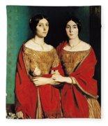 The Two Sisters Fleece Blanket