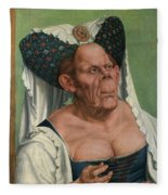The Ugly Duchess, By Quentin Matsys Fleece Blanket