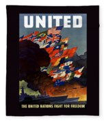 The United Nations Fight For Freedom Fleece Blanket
