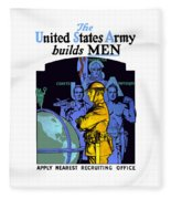 The United States Army Builds Men Fleece Blanket