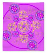 The Universal Spin Of Violet Fleece Blanket