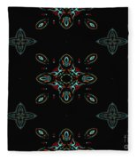 The Universe Display At Night Abstract Fleece Blanket
