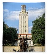 The University Of Texas Tower Fleece Blanket